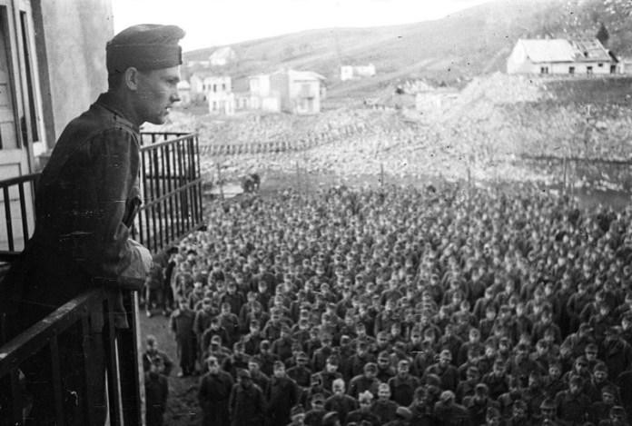 Німецькі та угорські військовополонені. Фотограф Аркадій Шайхет