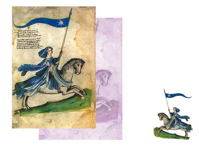 Барбара Циллі, мініатюра з манускрипта «Bellifortis», XV ст.