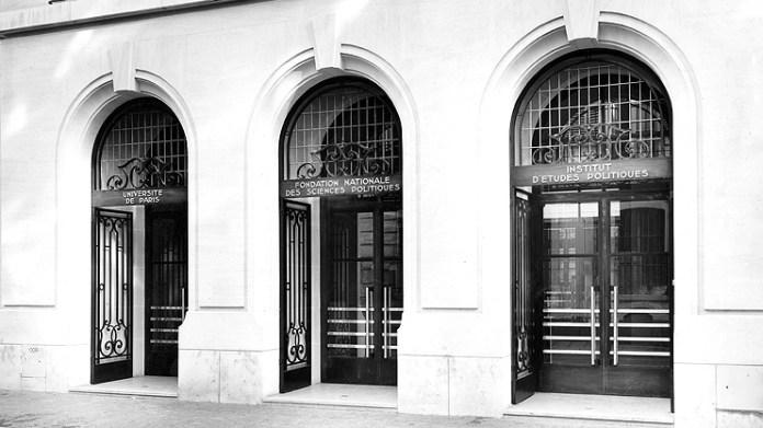 Головний вхід у «Інститут політичних досліджень» у Парижі, де навчався Казимир граф Шептицький – пізніший свщм. Климентій. Сучасний вигляд.