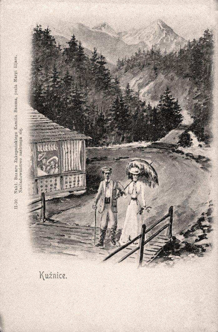 «Кузьніце» — частина Закопаного, неподалік якої часто жили Шептицькі. Джерело: Polona.pl