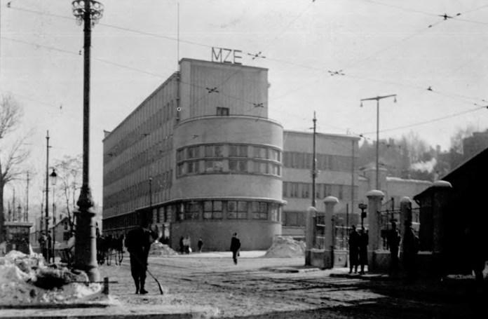 """Будівля """"Міських закладів електричних"""" на сучасній вулиці Вітовського, 55. 1938 р."""