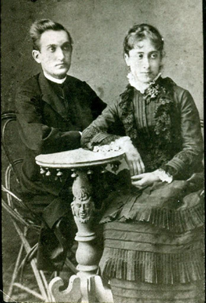 Ольга Рошкевич з чоловіком Володимиром Озаркевичем, 1879