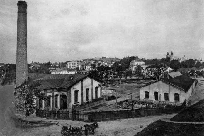Трамвайне депо та електростанція. 1894 р.