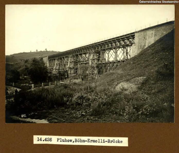 Міст в селі Плугів, 1917 р.
