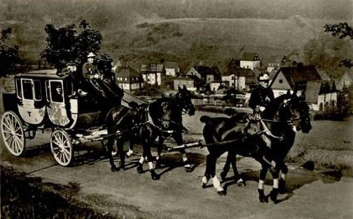 Поштовий диліжанс місцевого сполучення. Фото 1860-х років