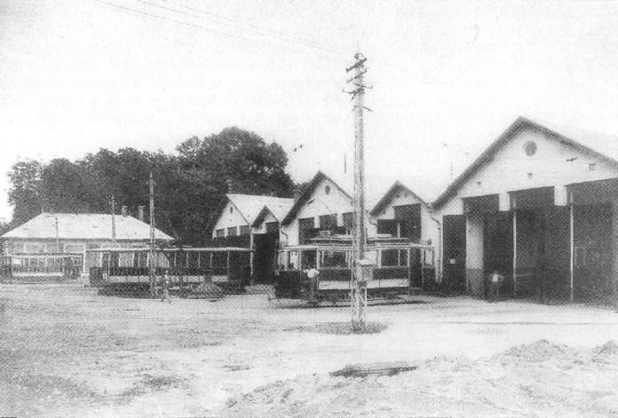 Трамвайне депо. Середина 1930-х років. Фото із колекції С.А. Тархова.