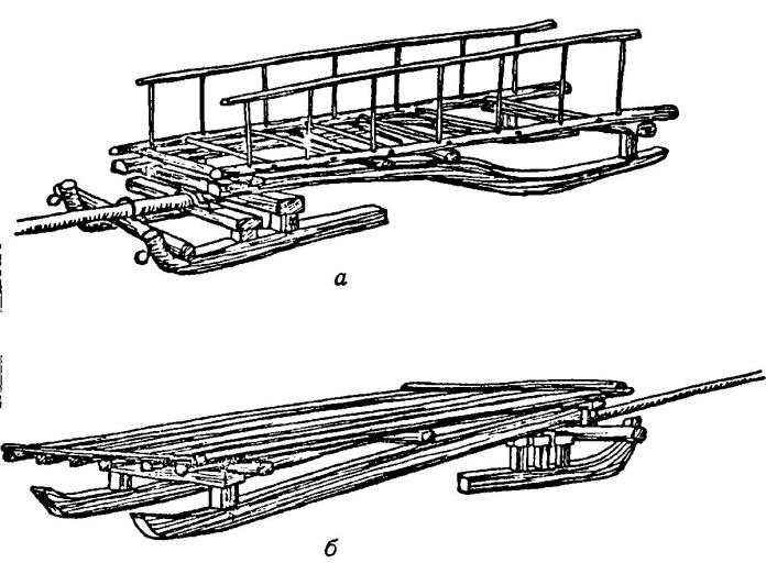 Сани-волокуші, які використовували селяни Галичини