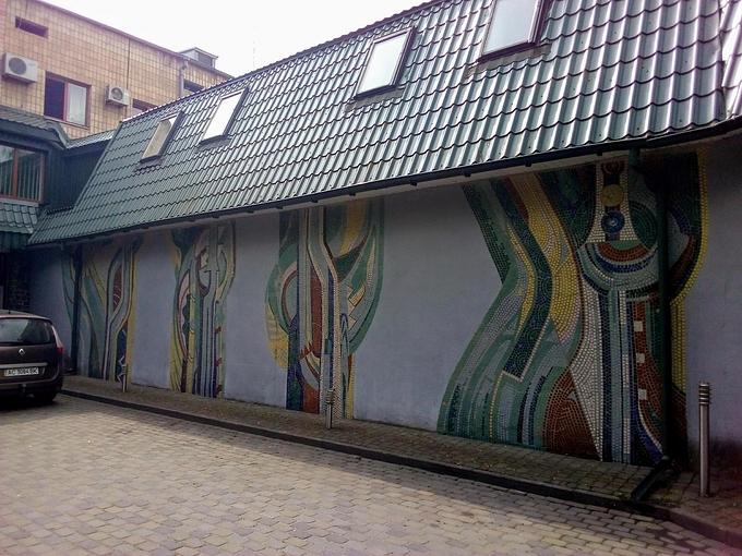 Мозаїка в Луцьку на вулиці Рівненській. Микола Куценко, 1982-1983
