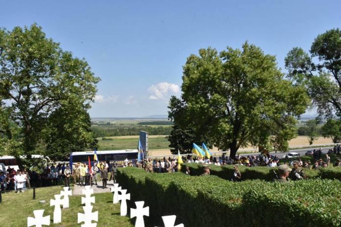 Урочисте перепоховання воїнів-дивізійників, які полягли у битві під Бродами у липні 1944 року