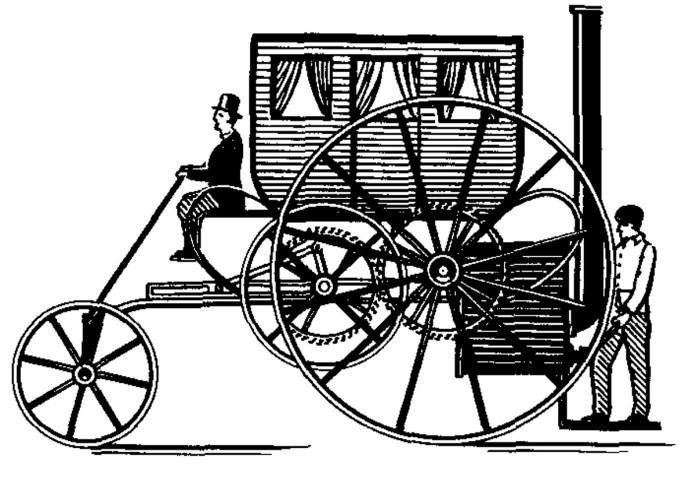 Паровий екіпаж Тревітіка. 1801 р.