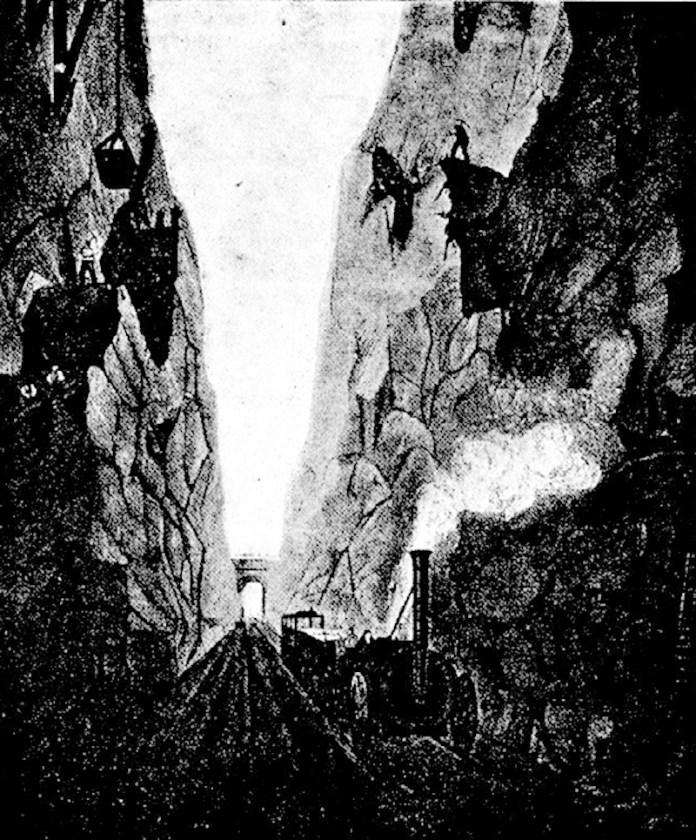 Виямка на залізниці між Ліверпулем і Манчестером. 1830 р.