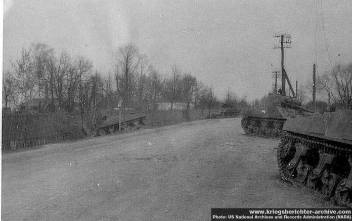 Підбиті танки Шерман у Ковелі