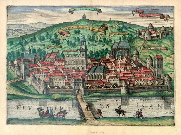 Перемишль у виконанні голландських майстрів: картографа Герга Брауна (1541-1622), Авраама Гоґенберга (1590-1656) та Антонія Гайрата. 1618 р.