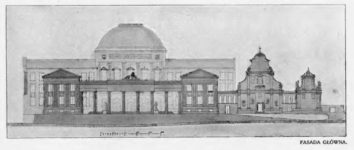 Проект нової будівлі львівського університету Людвіка Войтичка і Казімежа Вичинського, 1913
