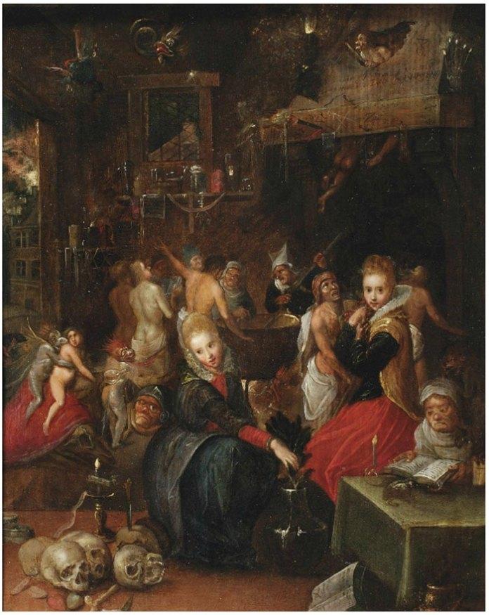 """""""Шабаш відьом"""" (Франс Франкен молодший, поч. XVI ст.)."""
