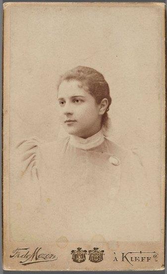 Портрет дівчини. Фотограф Франц де Мезер