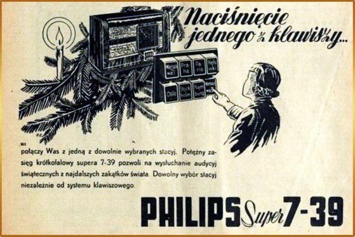 Реклама радіоприймача «Філіпс»