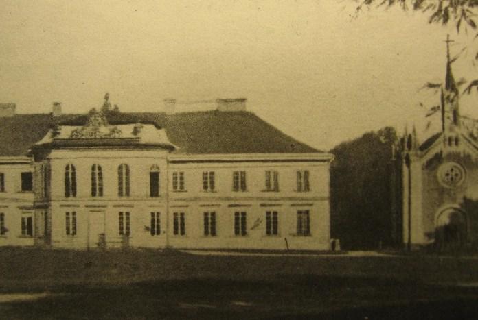 Палац Грохольських в містечку Гриців. Фото кінця ХІХ століття