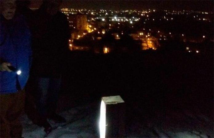 Спиляний дубовий хрест на горі Баба Род