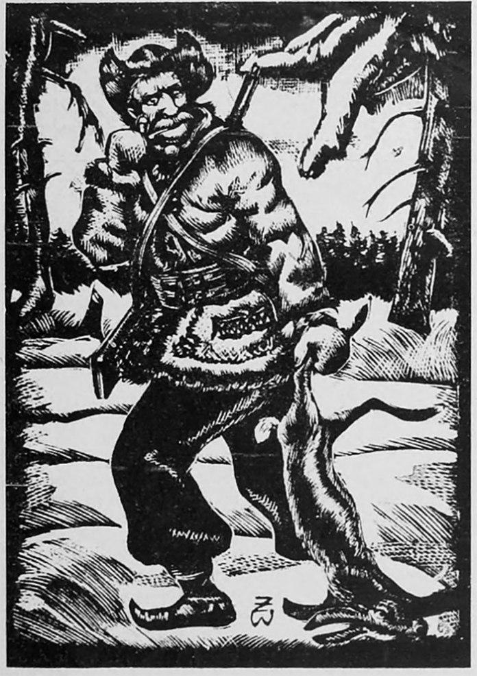 «Гуцул-браконьєр» , різьба по дереву В. Журавського.