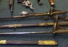 Зброя XVIII-XXІ століть, яку Львівська митниця передала Львівському історичному музею