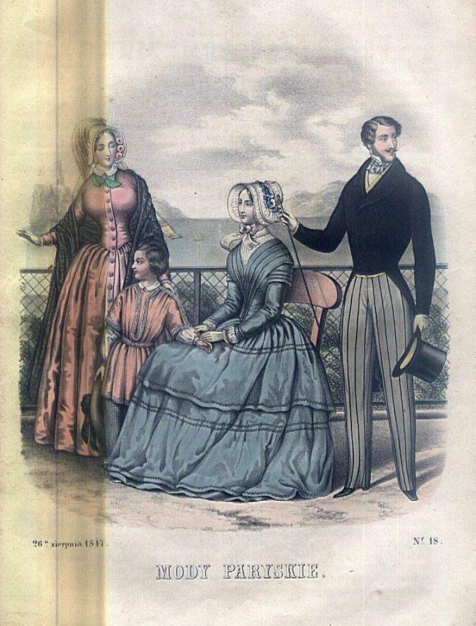 """""""Вісник мод паризьких"""" , 1847 р."""