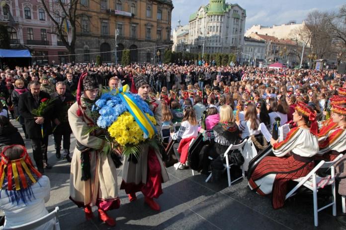 Урочистості з нагоди вшанування 205-тої річниці з дня народження Тараса Шевченка у Львові