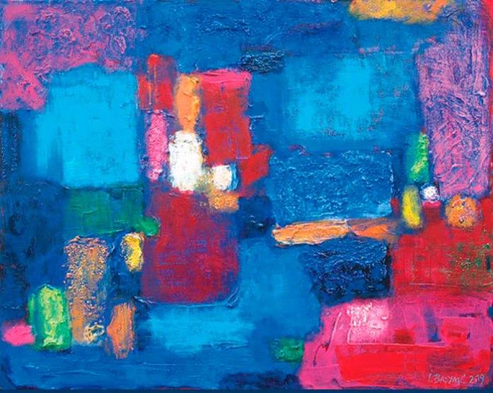 Експозиція виставки живопису Ігоря Бадяка «Кобальтовий вітер»