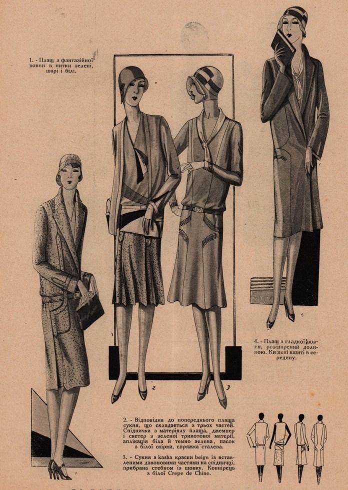 Модні фасони весни 1929 року