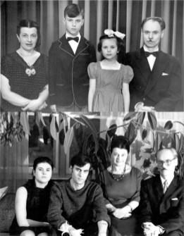 Родина Кейванів в Едмонтоні. 1954 і 1966 роки