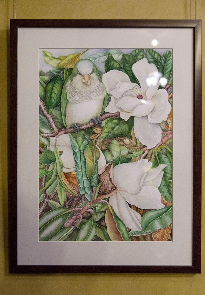 Експозиція виставки Марини Крижанської «Акварельна весна»