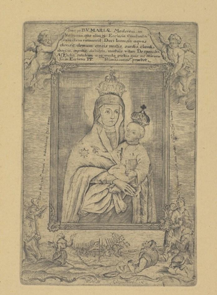 Богородиця з Межиріцького монастиря, зображення 1775 року