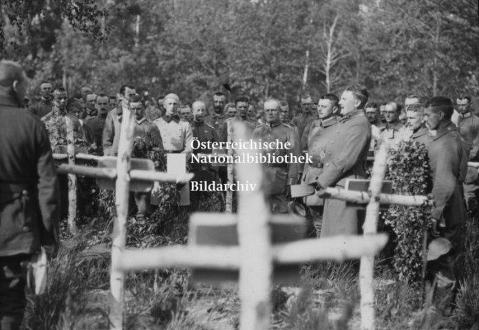 Похорони військового у Ковелі, фотограф Франц Пахляйтнер
