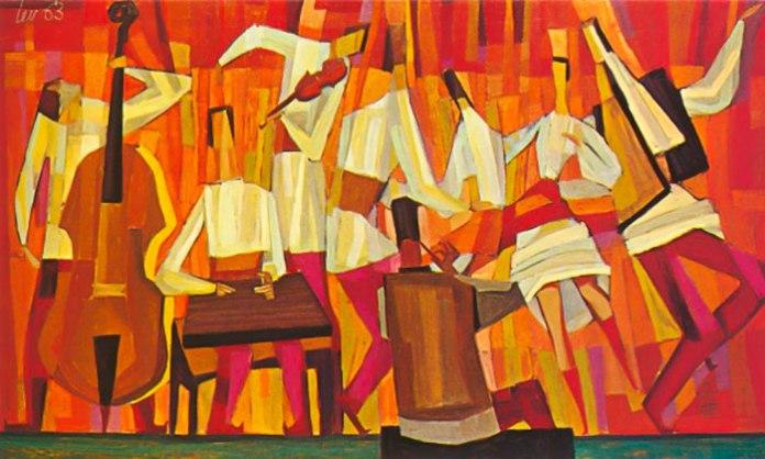 Мирон Левицький. Гуцульські музики, 1963 рік