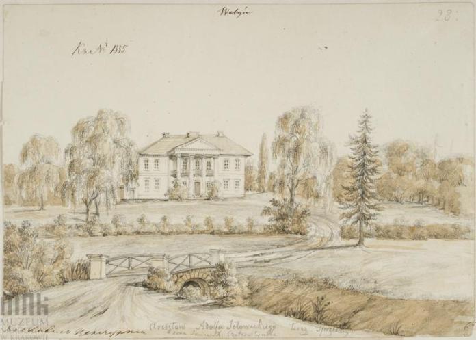 Палацик в Урвенні, малюнок Наполеона Орди