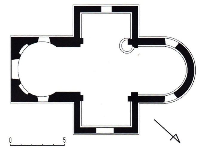 План каплиці в Гряді