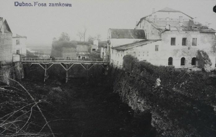 Вид на Дубенський замок, 1930-і роки до реставрації