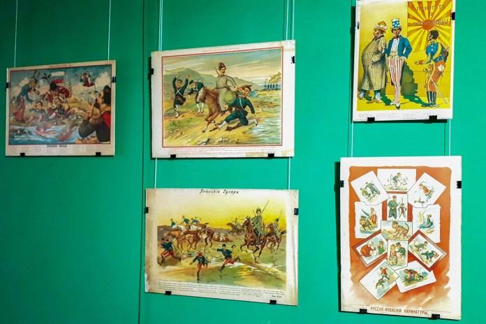 """Експозиція виставки """"Мистецтво войовничого плакату"""""""