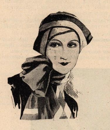 Модний фасон капелюха восени 1929 р.