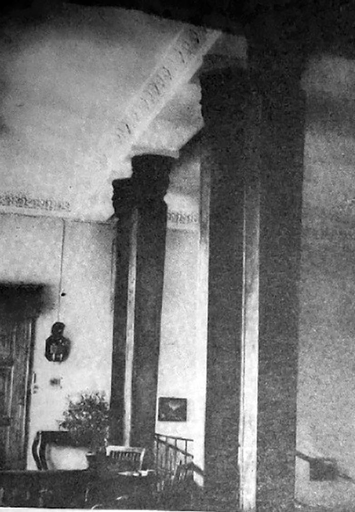 Інтер'єр в палаці в Острожці, фото до 1920