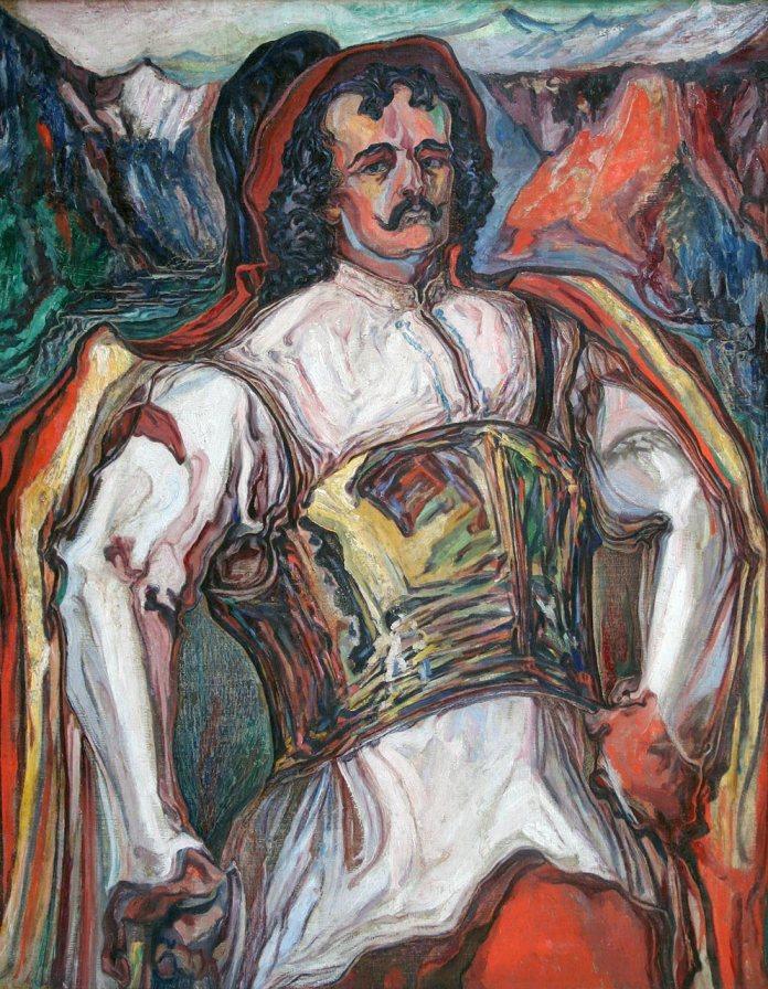 Новаківський О. Довбуш – володар гір. Фанера, олія. 1931 р.