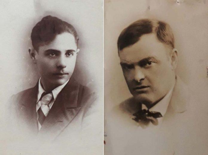 Ліворуч Іцко Фінітберг, праворуч Рувин Гаско