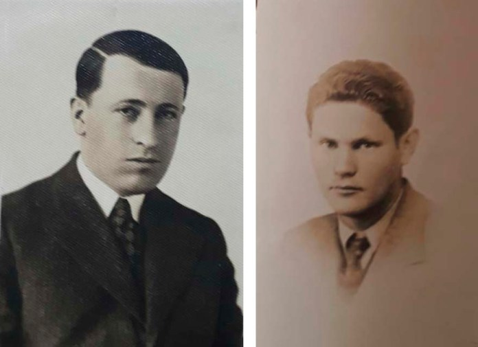 Праворуч Хаїм Лернер, ліворуч неідентифікований фотограф