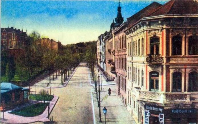 Перспектива вулиці Пуласького (вулиці Паркової). Початок 20 ст.