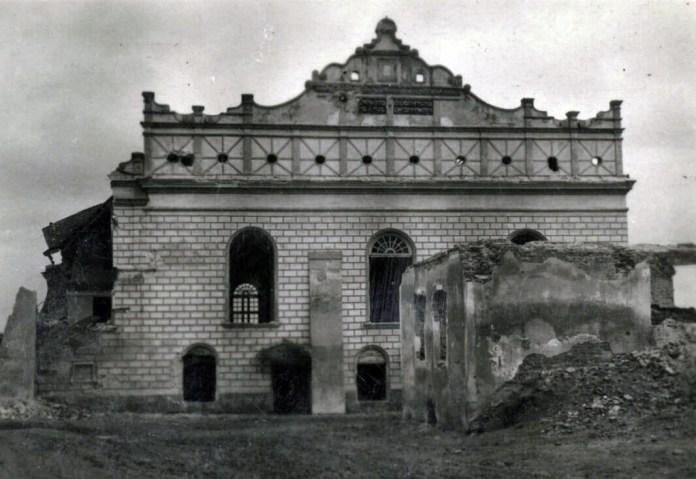 Синагога в Острозі. 1944 р.