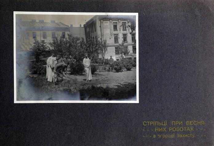 Дім Захисту УСС. Весняні роботи в садку, 1915-16 рр.