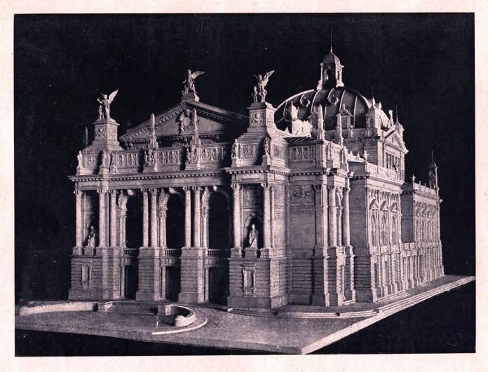 """Макет оперного театру у Львові. """"Tygodnik illustrowany"""" № 26, 1899 р."""
