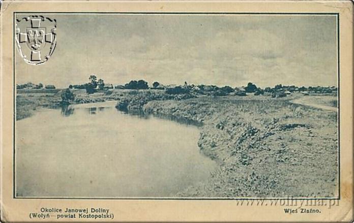 Вид на село Злазне