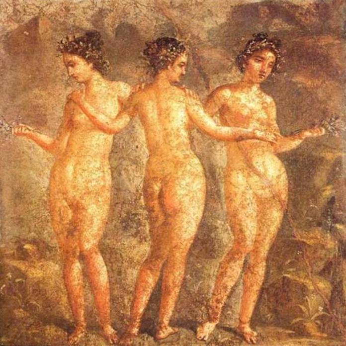 Три грації. Фрески із Помпеїв