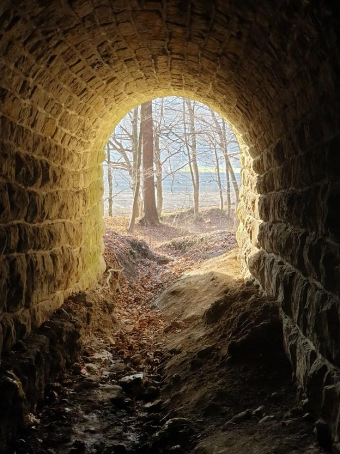 Вихід з тунелю, вид в сторону Вульки